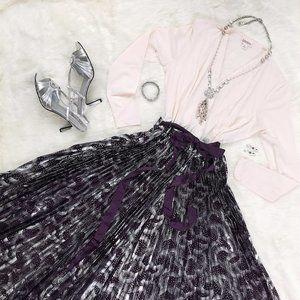 LuLaRoe Dresses - LuLaRoe Deanne Dress Maxi Dress Cream and Purple